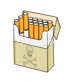 Drawn cigarette