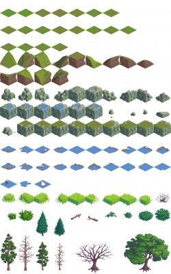 Drawn lawn sprite sheet