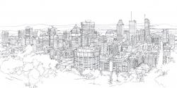 Drawn cityscape