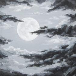 Drawn clouds grey