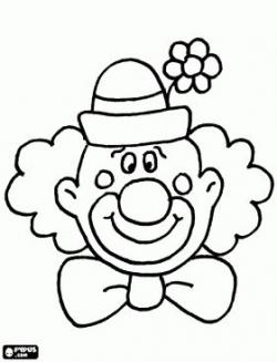 Drawn clown