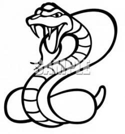 Cobra clipart black and white