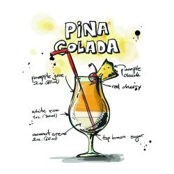 Drawn cocktail