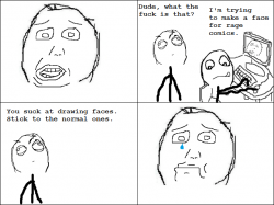 Drawn expression rage