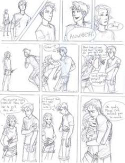 Drawn comic percy jackson
