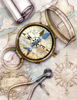 Drawn compass historical