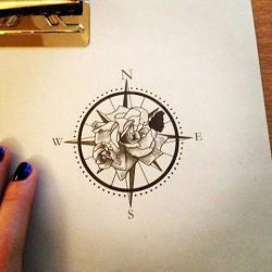 Drawn compass south east