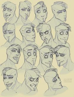 Drawn expression anger