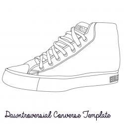 Converse clipart blank