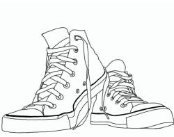 Converse clipart outline