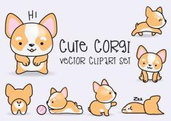 Corgi  clipart cute dog