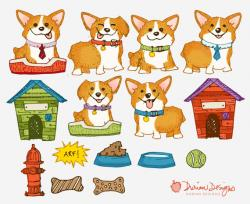 Corgi  clipart cute puppy