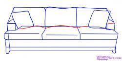 Drawn sofa detail drawing