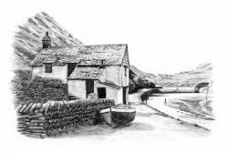 Drawn countyside