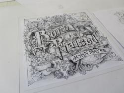 Drawn album cover artistic