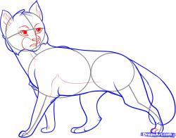 Drawn feline warrior