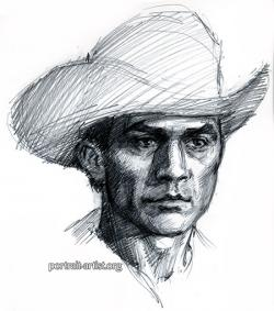 Drawn cowboy