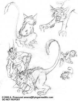 Drawn dinosaur unusual