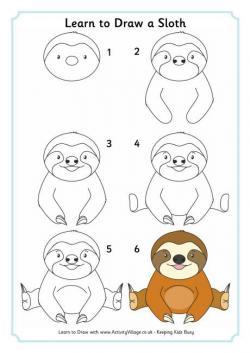 Drawn sloth simple