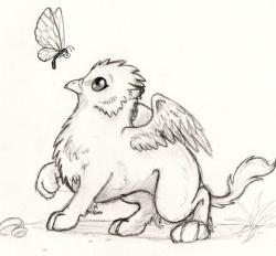 Drawn griffon magical creature