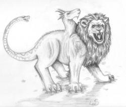 Drawn griffon myth