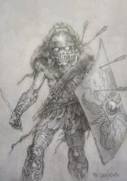 Drawn demon artwork