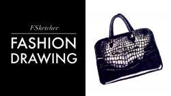 Drawn purse fashion sketch