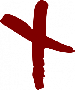 Drawn cross