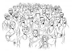 Drawn crowd