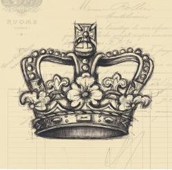 Drawn crown sketched
