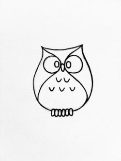 Drawn owlet tiny owl