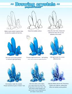 Drawn crystals
