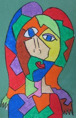 Drawn cubism pablo picasso artwork