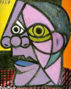 Drawn cubism self portrait