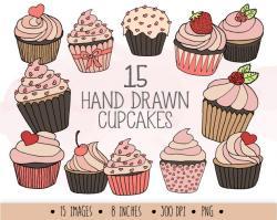 Brownie clipart valentine cupcake