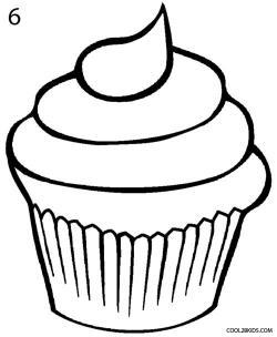 Drawn cupcake