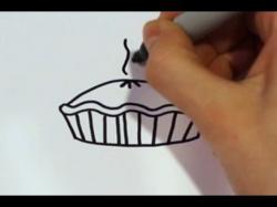 Drawn pies cartoon