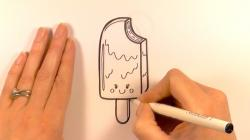 Drawn lollipop ice cream