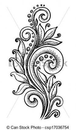 Curl clipart drawn