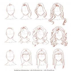 Drawn people hair