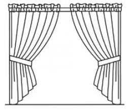 Drawn window curtain