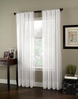 Drawn curtain floor length