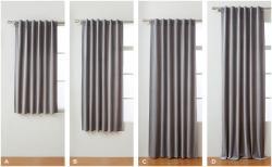 Drawn curtain length rule