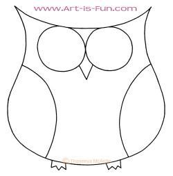 Drawn owlet easy