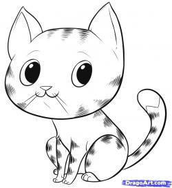 Drawn feline easy