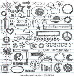 Drawn shapes doodle
