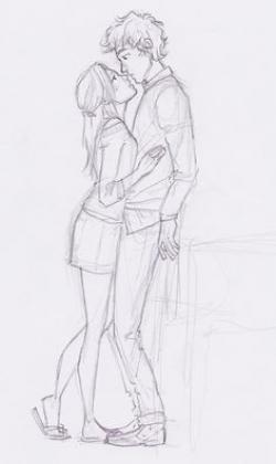 Drawn kiss cute relationship
