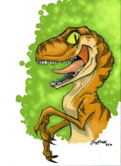 Drawn velociraptor cute