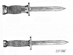 Drawn dagger hunting knife