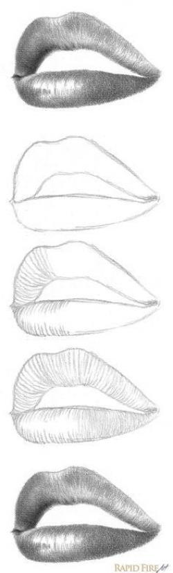 Drawn zipper lip pencil